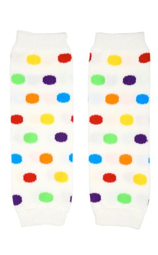 Judanzy Newborn Rainbow Polka Dot Baby Girl Leg Warmers - Up To 15 Pounds