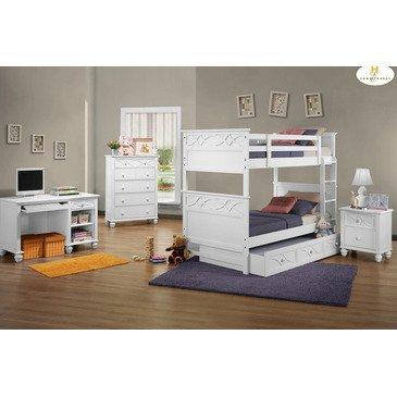 Kids Loft Beds With Desk 2034 front