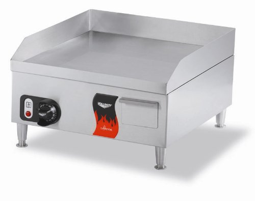 Vollrath 40715 Cayenne Stainless Steel Flat Top Electric Griddle, 14-Inch