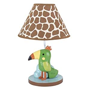 ivy peek a boo jungle lamp with shade and bulb nursery lamps baby. Black Bedroom Furniture Sets. Home Design Ideas