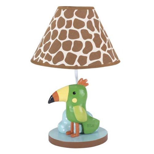Lambs & Ivy Peek A Boo Jungle Lamp with Shade and Bulb