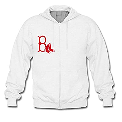 Custom Men Boston Red Sox Hoodies Zip Up Jacket