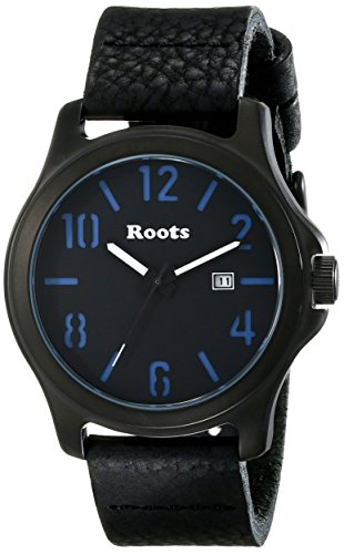 Roots Men's 1R-LF102BA2B Tamakwa Analog Display Japanese Quartz Black Watch (Black Watch Of Canada compare prices)