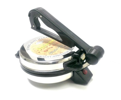 Best Price! Jaipan 8 Jumbo Indian Roti Chapati Puri Flat Bread Tortilla Maker - Powerful 1000 Watts...