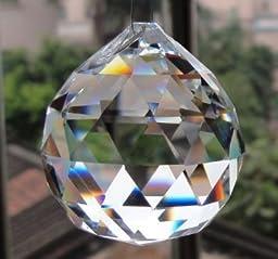 VOVOV 6Pcs Large Crystal Ball Prism Pendant Suncatcher 30mm