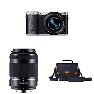 Samsung NX3000 Mirrorless Digital Camera with 20-50mm Compact Zoom and Flash + NX 50-200mm f/4.0-5.6 OIS Zoom Camera Lens + NX Camera Bag
