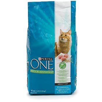 Image of Purina One Indoor Advantage Cat Food, Hairball and Healthy Weight Formula, 7-Pound Bag