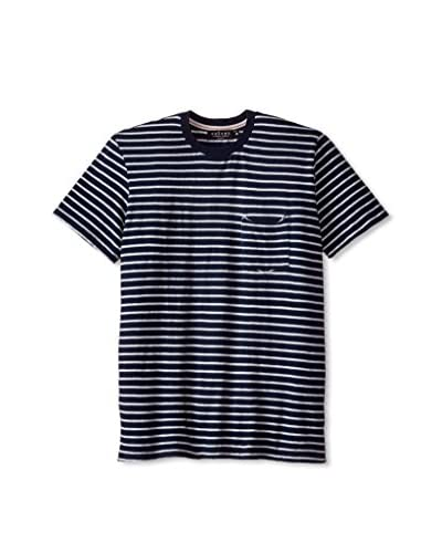 Velvet by Graham & Spencer Men's Striped Crew Neck T-Shirt