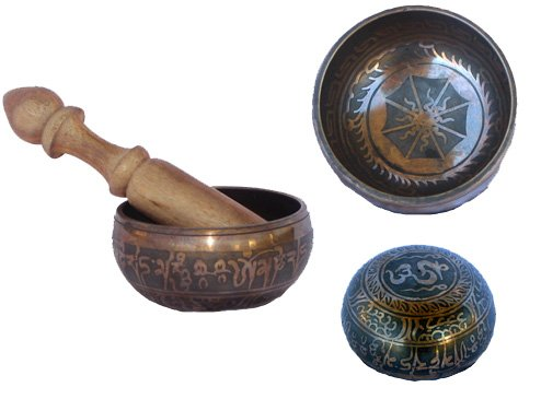 Tibetan Buddhist Singing Bowl Brown, 4 Inches Wide