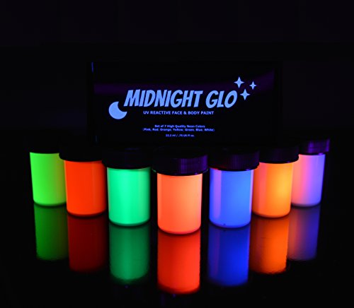 body paint glow top rated blacklight reactive fluorescent paint. Black Bedroom Furniture Sets. Home Design Ideas