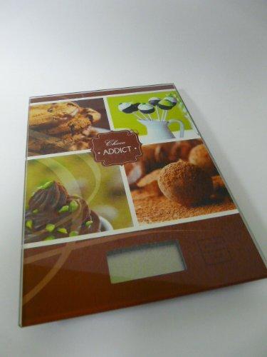 Balance de cuisine digitale motif Choco Addict chocolat