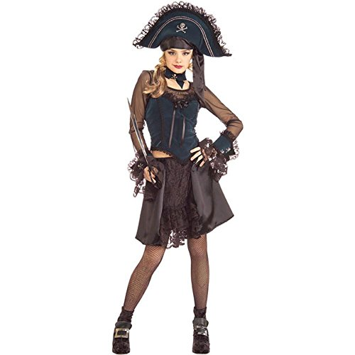 Drama-licious Pirate Queen Young Adult (Teen) Halloween Costume Size 2-6