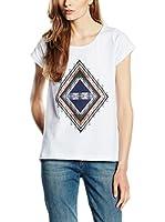Cross Jeans Camiseta Manga Corta (Blanco)