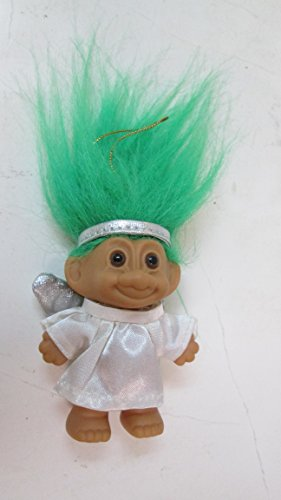 Russ-Berrie-Angel-Troll-Ornament-with-Green-Hair