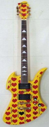 BURNY MG-145S/HY hideモデルイエローハート エレキギター