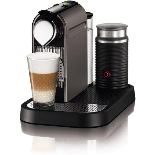 Nespresso C121-US4-TI-NE1 Espresso Maker with Aeroccino Milk Frother, Titan