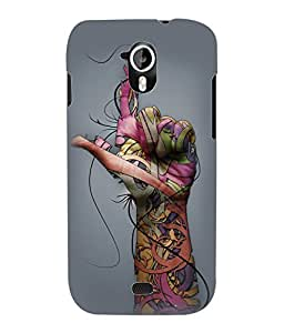Fuson 3D Printed Finger Pattern Designer Back Case Cover for Micromax Canvas HD A116 - D1028