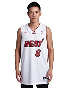 NBA Miami Heat LeBron James Swingman Jersey, White, Small