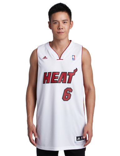 NBA Miami Heat LeBron James Swingman Jersey, White