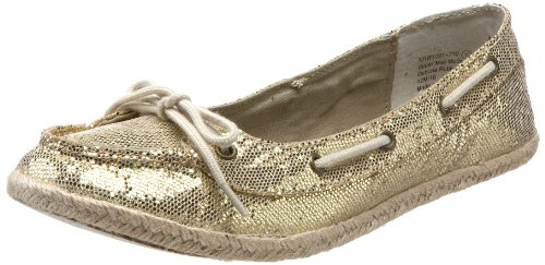 Not Rated Women's South Beach Boat Flat,Gold,6 M US