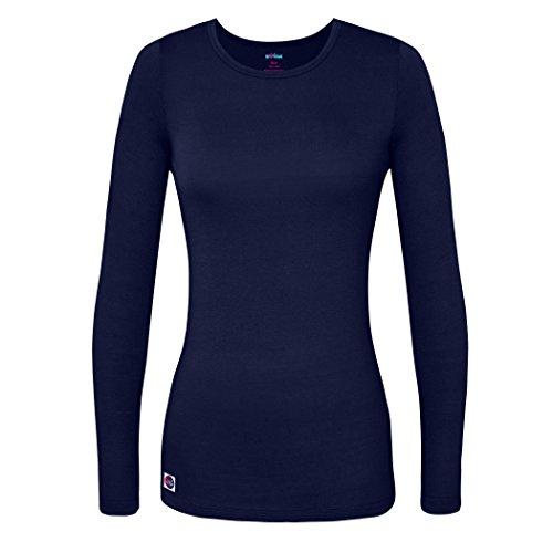 Sivvan Women's Comfort Long Sleeve T-Shirt / Underscrub Tee - S8500 - Navy - M (Scrub Cap Navy compare prices)
