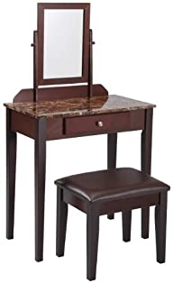 Crown Mark Iris Vanity Table/Stool, E…