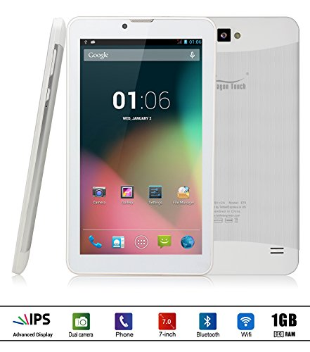 Best Deals! Dragon Touch E70 7'' Android Phone Tablet, Quad Core, IPS Screen, Google Android 4.4.2 K...