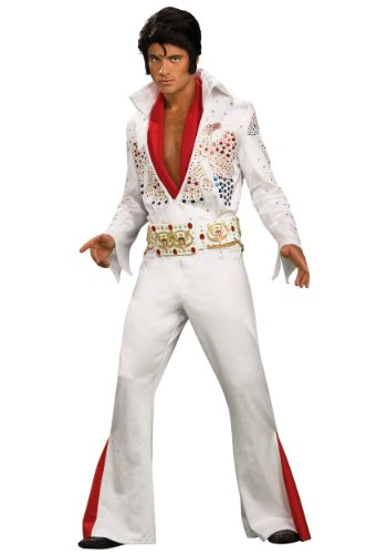 Rubies Mens Deluxe Grand Heritage Jumpsuit Elvis Presley Theme Party Costume