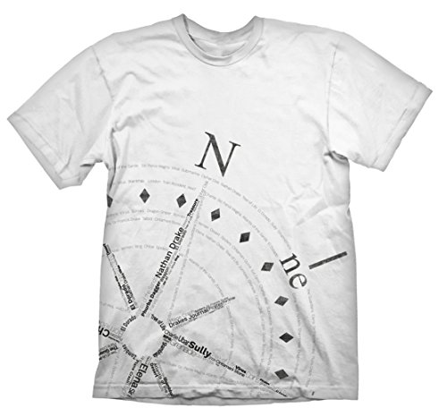 T-Shirt Uncharted - Compass [weiß, L] [Edizione: Germania]
