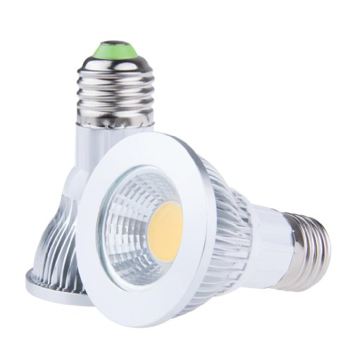Lemonbest Pack Of 2 Pcs Energy Saving Indoor Ceiling Lamp 9W E27 Base Cob Par20 Led Bulb Light Spotlight, Warm White