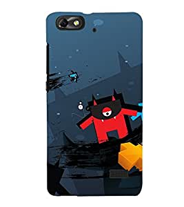Cartoon 3D Hard Polycarbonate Designer Back Case Cover for Huawei Honor 4C :: Huawei G Play Mini