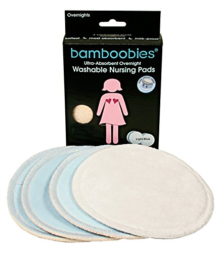 Cheapest Prices! Bamboobies Super-Soft Overnight Washable Nursing Pads - Extra Absorbant - 2 Pair