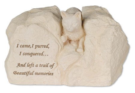 Cat Stone Cremation Urn - I Came, I Purred, I Conquered...