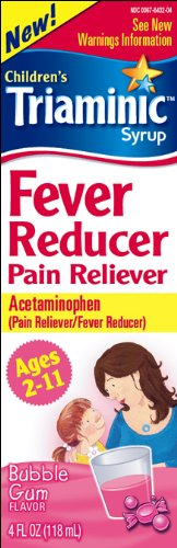 Triaminic Fever Reducer Pain Reliever, Bubble Gum, 4-Ounce (Pack of 2)
