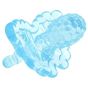 Raz-Berry Silicone Teether - Clear - Blue