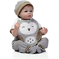 Sany Doll Reborn Baby Doll Soft Silicone Vinyl 22inch 55cm Lovely Lifelike Cute Baby Boy Girl Toy Fashion Doll