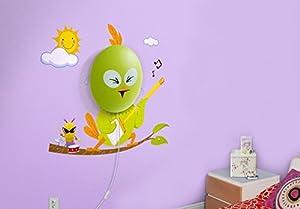 Luz De Pared Decorativa Rocking Bird