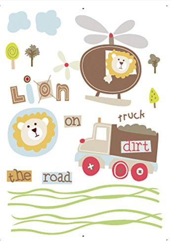 Damara Cute Lion Truck Wall Stickers Art Children Room Home Decor