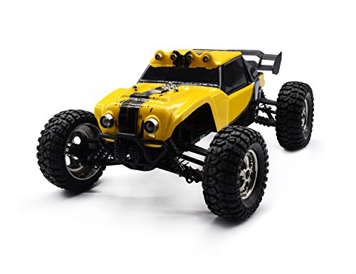 KELIWOW 2.4Ghz 1/12 Scale 25MPH Waterproof RC Car, 4WD Desert Off-Road RC Truck with LED Lights - Yellow (Rc Boats Gas compare prices)