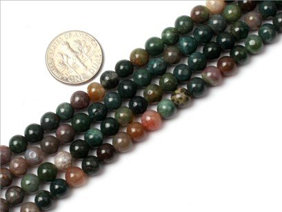 6mm Round Gemstone indian agate beads strand 15