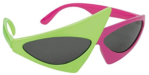 Asymmetric Purple and Green Glasses