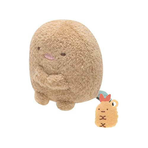 San-x Sumikko Gurashi Plush 2'' Tonkatu w/ Mini Fried Shrimp - 1