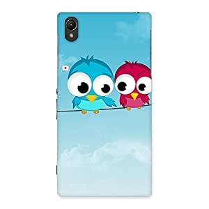 Cute Birds on Wire Back Case Cover for Sony Xperia Z1