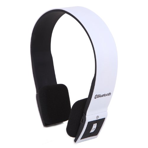 Hde Slim Wireless Bluetooth V3.0 Stereo Headphones W/ Compatible Usb 2.0 Bluetooth Dongle Adapter (White)