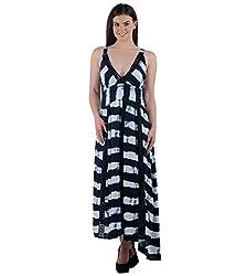 Beyond Origins Women's Dress (LD005_Blue _Small)
