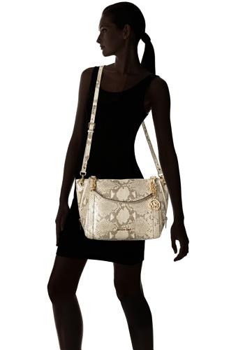 MICHAEL Michael KorsMichael Kors Stanthrope Women's Large Satchel Handbag Gray