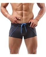 Baleaf Men's Swimming Briefs Trunks Stripes Style