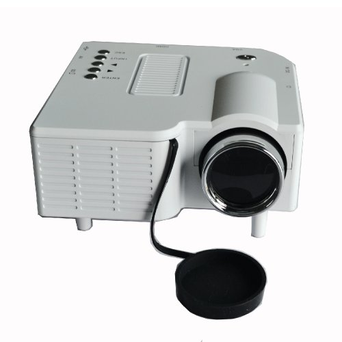 White Color Portable Mini Hd Led Projector Cinema Theater,Support Pc Laptop Hdmi Vga Input And Sd + Usb + Av Input,For Iphone,Galaxy,Laptop,Mac. Lamp: Led 20,000Hrs Life, Package Including: User Manual, Power Adaptor, 3 In 1 Av Cable , Remote Control
