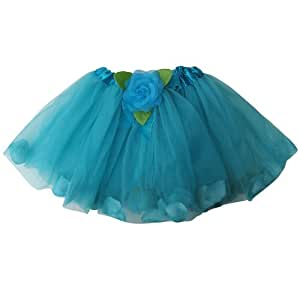 Flower Petal Girls Dance Dress-Up Princess Fairy Costume Dance Tutu