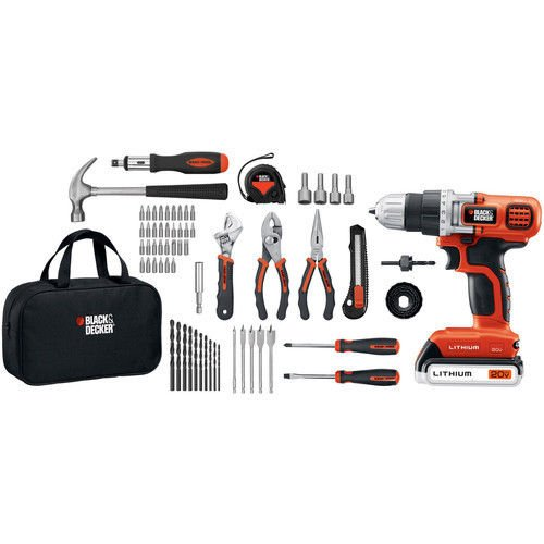 Black & Decker 20V MAX Li-Ion Drill and Project Kit LDX120PK New (Black And Decker 20 V Kit compare prices)